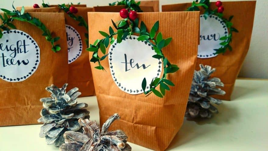paper bags advent calendars