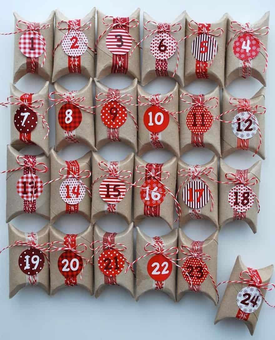 handmade Christmas Countdown calendar