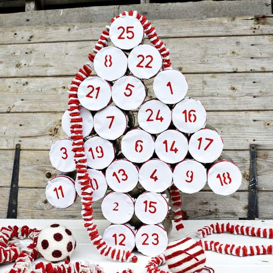 tin can advent calendars