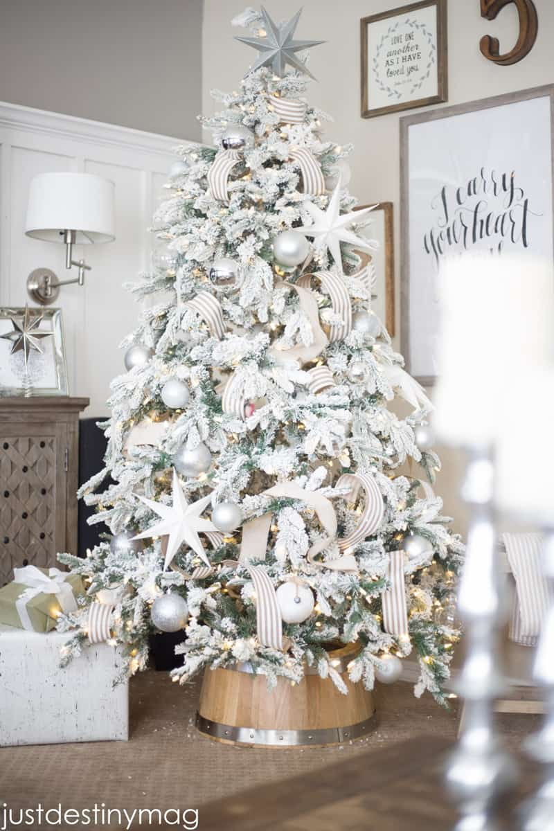 photo source - Decorated Flocked Christmas Trees