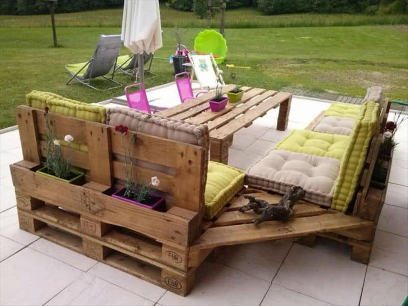 for an exotic looking table one can use multi colored or stained pallets examples include oriental style coffee table rolling outdoor table and kitchen - Patio Furniture Ideas
