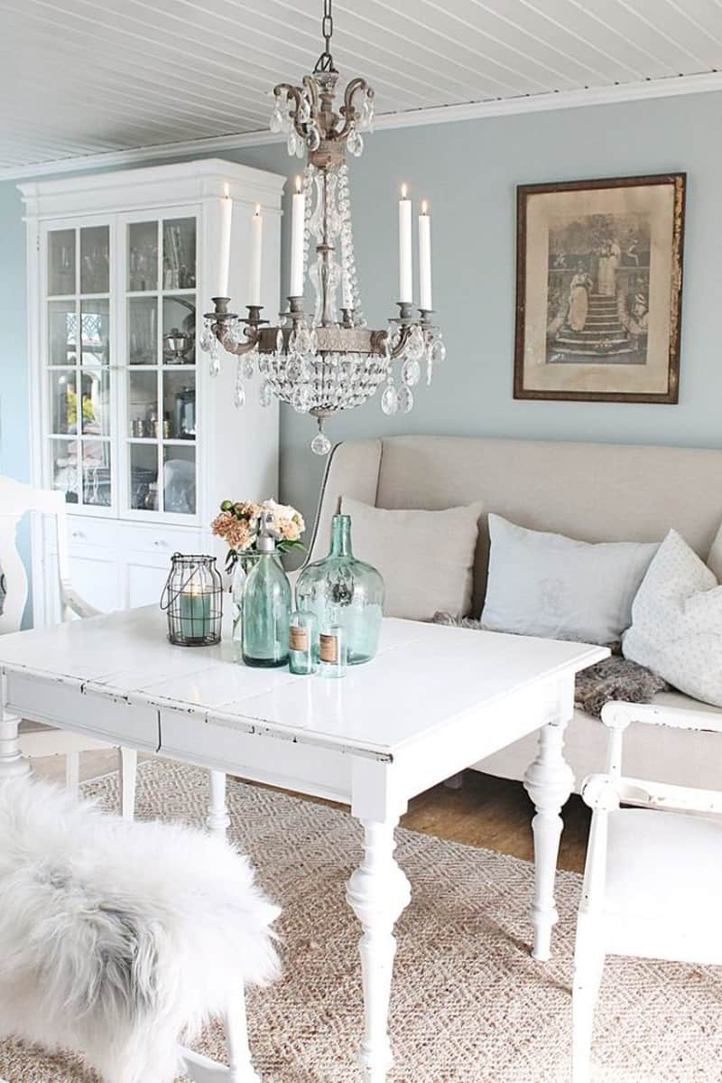 Impress your guests with your own shabby chic interior - Salones estilo shabby chic ...