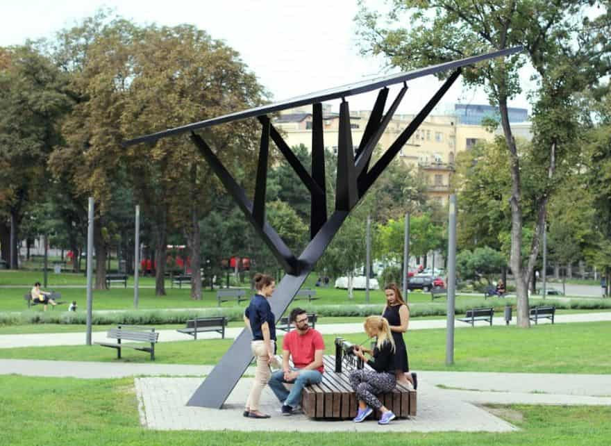 Energize the future with these creative designs of solar energy trees solar powered trees sciox Image collections