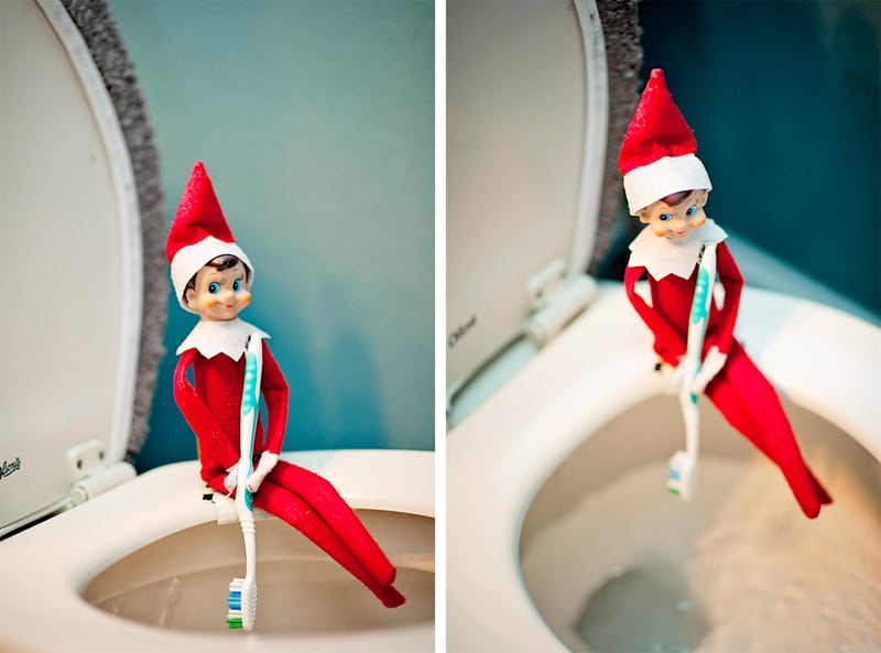 Elf encouraging your kids to brush their teeth