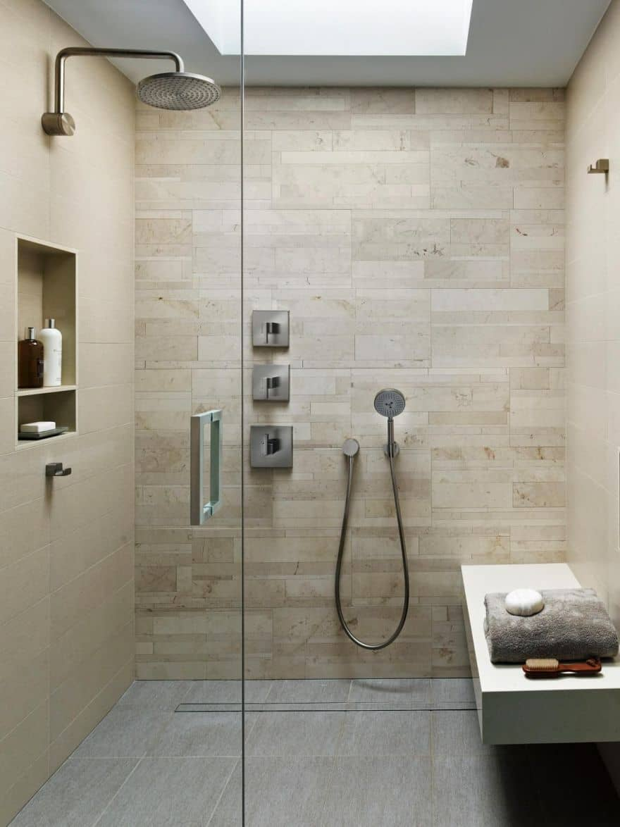 spa-inspired walk-in shower