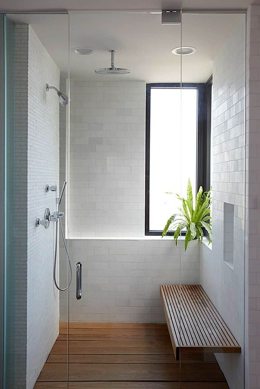 spa-inspired walk in shower
