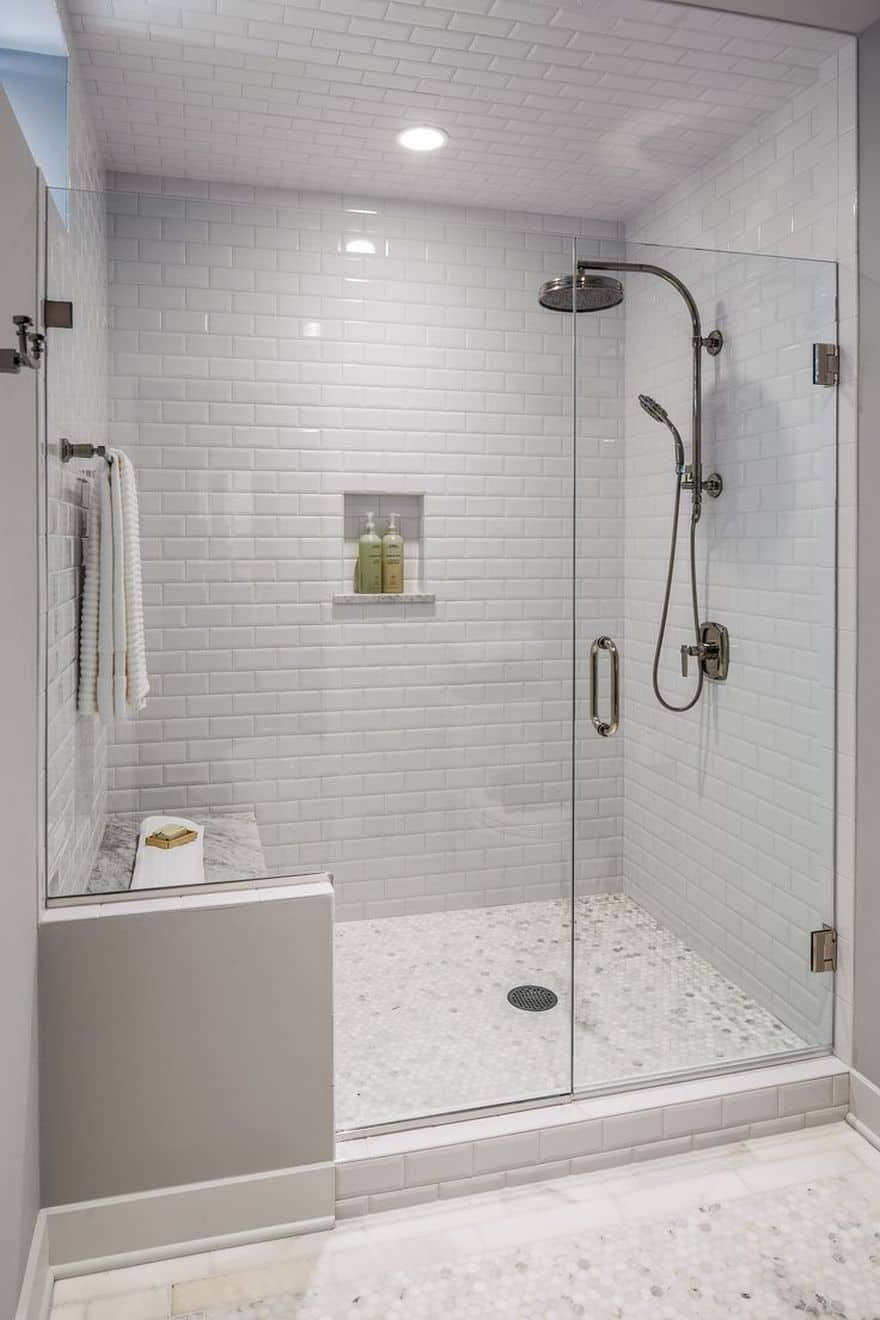 glazed bathroom tile best walk in shower ideas for your bathroom 12971