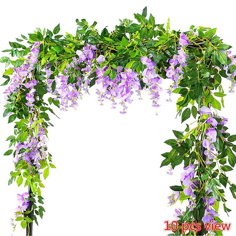 9 remarkable ideas with artificial flowers how became cool again violet garland the flowers are realistic perfect for wedding decoration table arrangement or elegant home decoration buy it from here junglespirit Images
