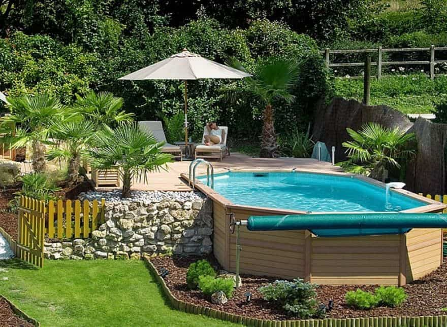 Awe inspiring above ground pools for your own backyard oasis for Design your own pool