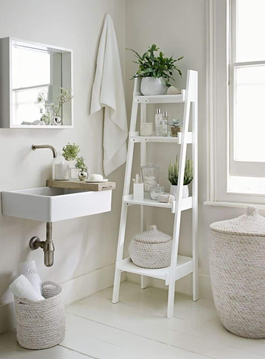 Beautiful And Affordable Ladder Shelf Ideas For Every Room