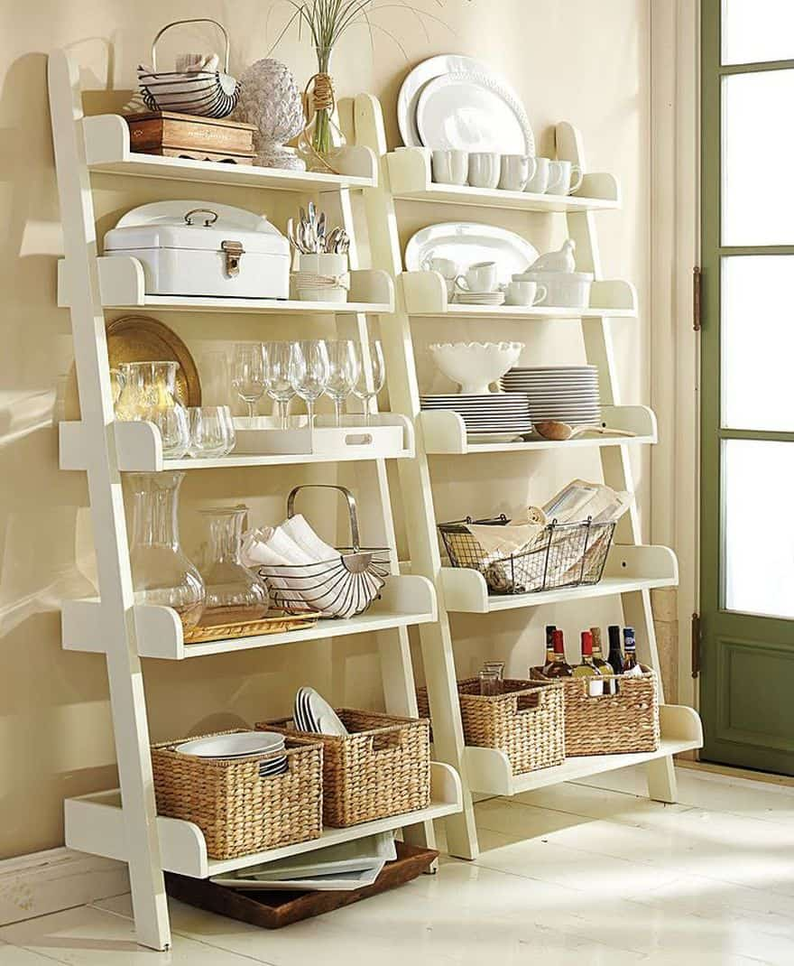 kitchen ladder shelves