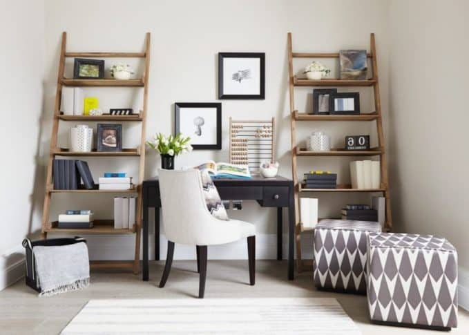 shelves living room design