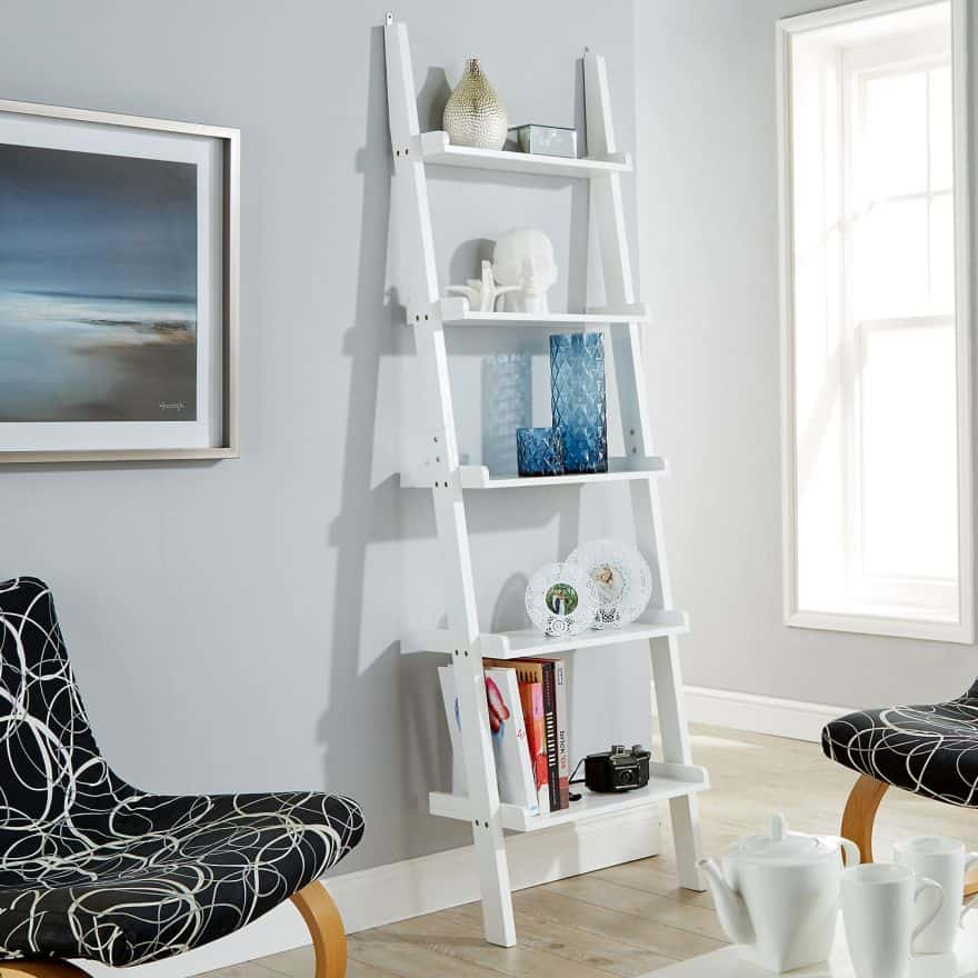 ladder shelving ideas