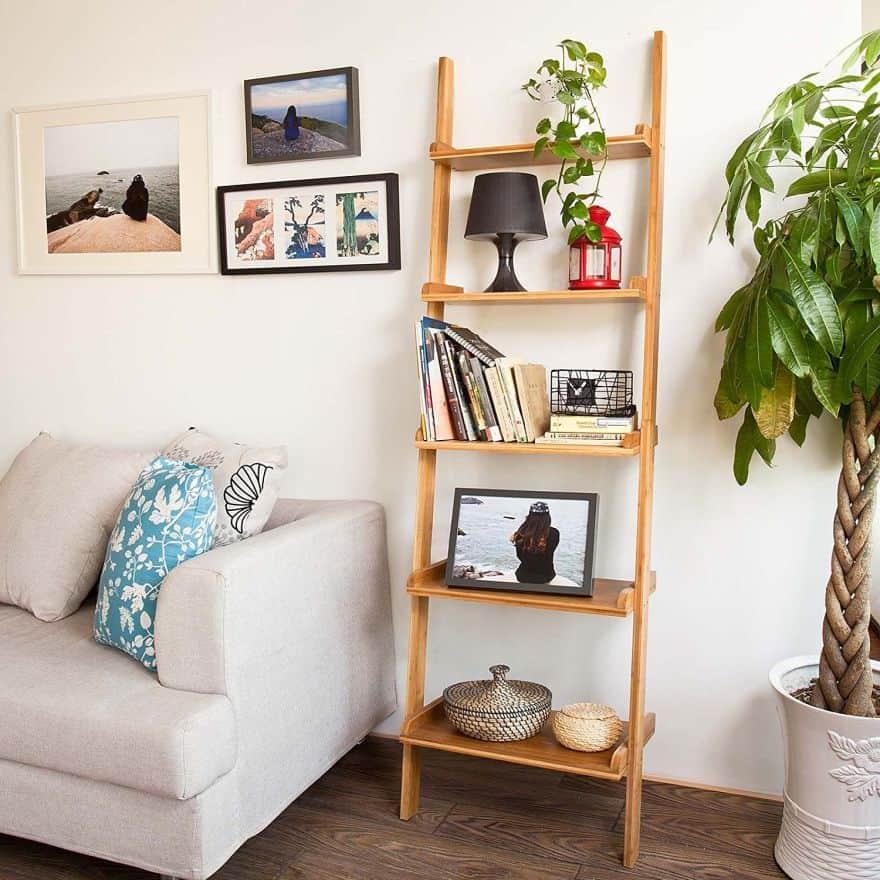 ladder shelves