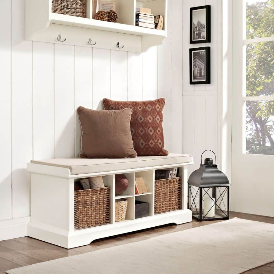 entryway benches with storage organizing | Entryway Bench Ideas for a Stylish and Organized Home