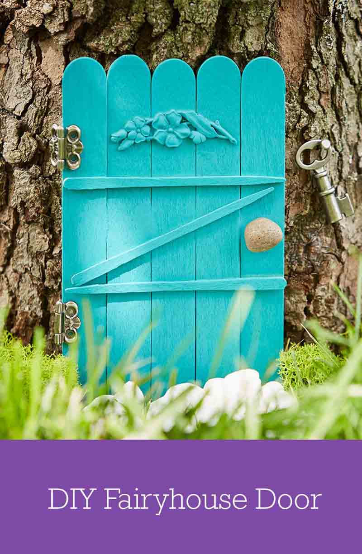 25 Diy Fairy Door Ideas From Popsicle Or Wooden Craft
