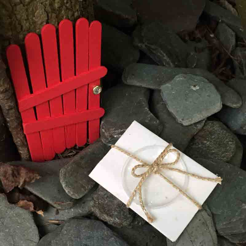 how to make a fairy door out of popsicle sticks