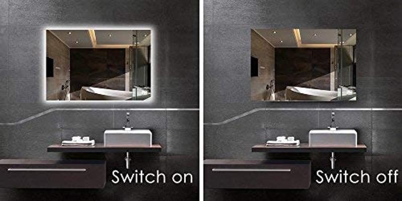 Modern bathroom mirror with leddual-led-cool white//neutral//warml59