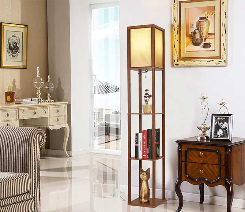 2 In 1 Floor Lamps With Shelves For Living Room Or Bedroom