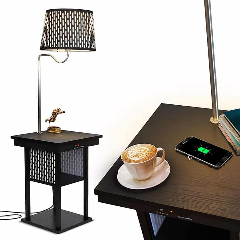 2 in 1:  Floor Lamps with Shelves for Living Room or Bedroom