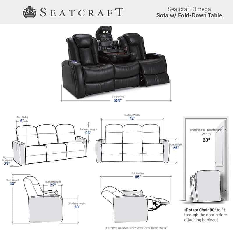 Best Home Theater Seating Recline Multimedia Sofa