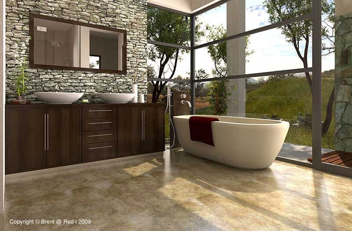 bathroom without walls designrulz (2)