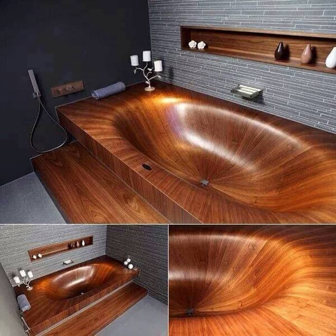 If You Claim To Be An Environmentally Friendly Person Then A Bathtub Carved In Log May Represent The Peak Of Your Green Actions