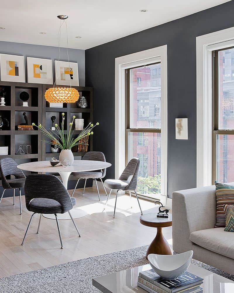 Gray dining room ideas shine in 2017 for Decorative items for dining room